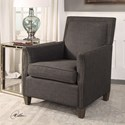 Uttermost Accent Furniture Darick Charcoal Armchair