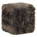 Uttermost Accent Furniture - Ottomans Jayna Fur Ottoman - Item Number: 23474