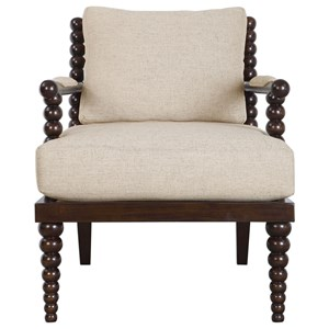 Uttermost Accent Furniture Lachlan Oatmeal Accent Chair