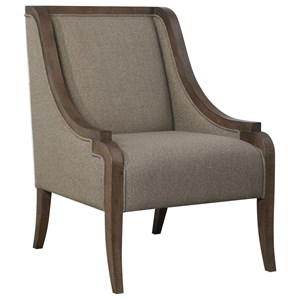Uttermost Accent Furniture Vaughn Walnut Accent Chair
