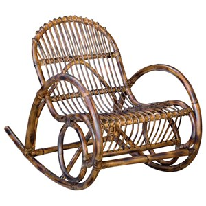 Uttermost Accent Furniture Arlo Rattan Rocking Chair