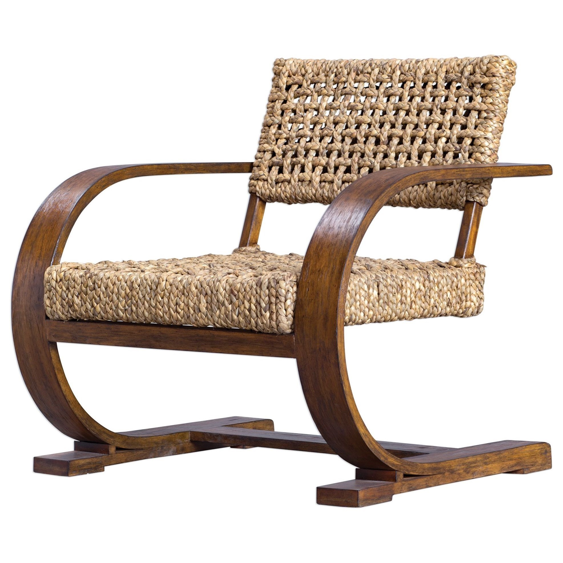 Accent Furniture - Accent Chairs Rehema Natural Woven Accent Chair by Uttermost at Dunk & Bright Furniture