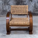 Uttermost Accent Furniture Rehema Natural Woven Accent Chair