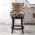 Uttermost Accent Furniture Callix Tiger Print Counter Stool