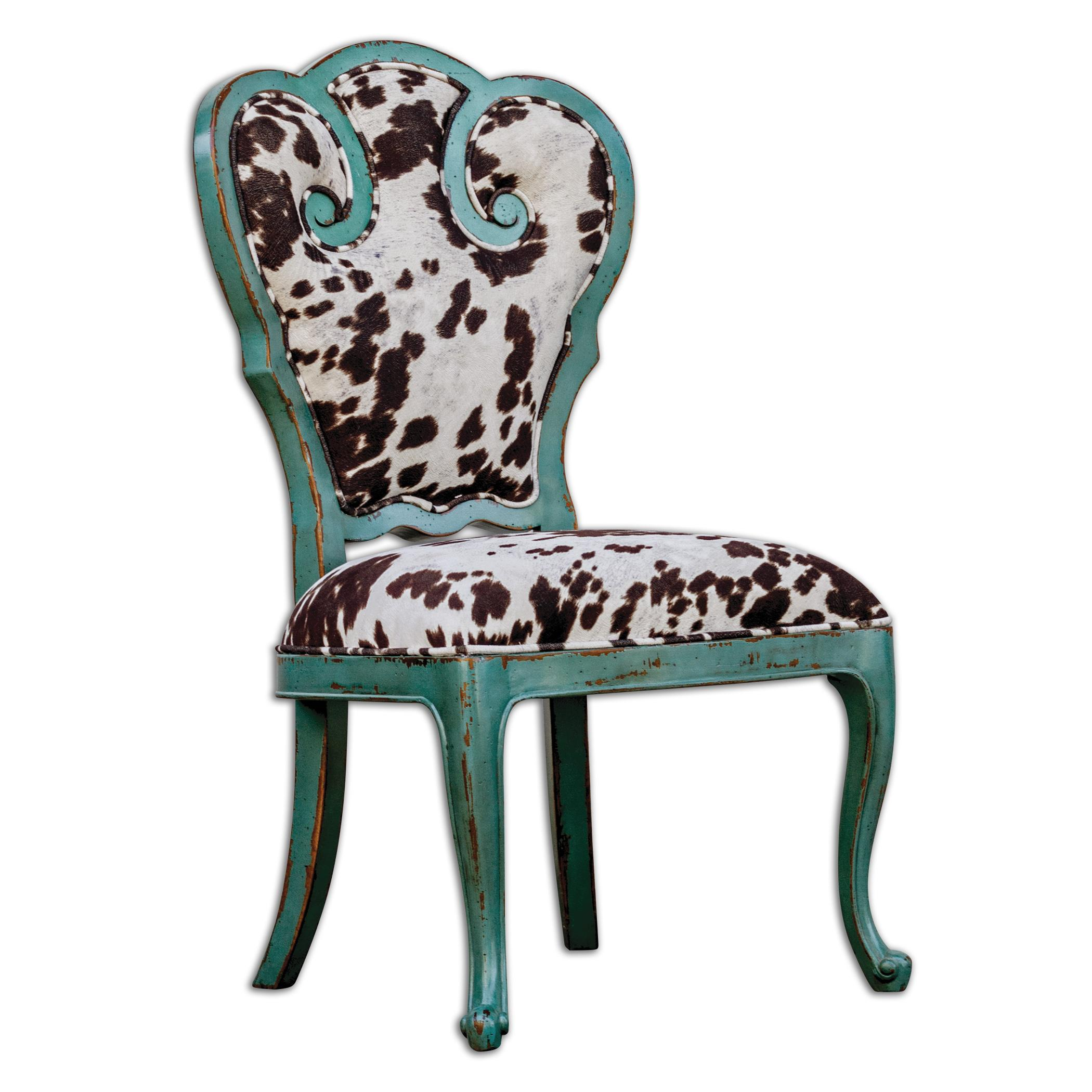 Uttermost Accent Furniture Chahna Velvet Accent Chair - Item Number: 23620