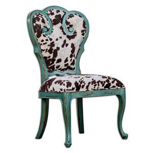Uttermost Accent Furniture Chahna Velvet Accent Chair