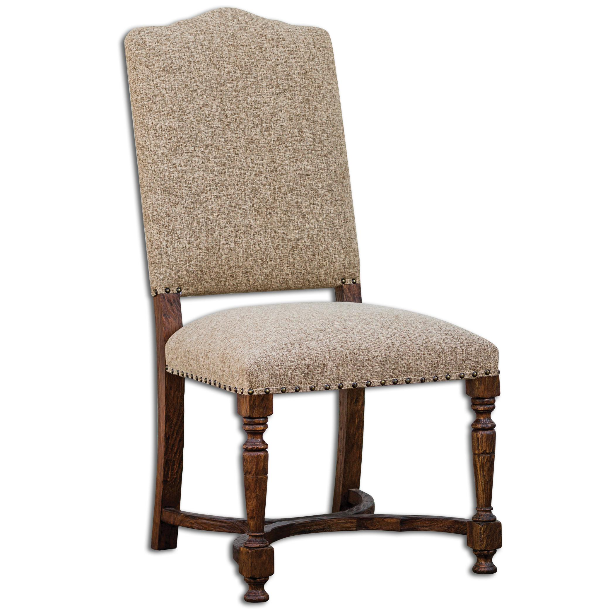 Uttermost Accent Furniture Pierson Textured Linen Accent Chai - Item Number: 23623