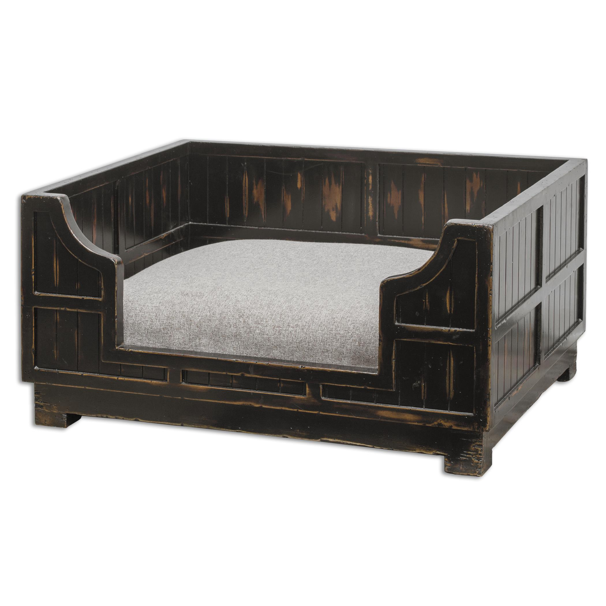 Uttermost Accent Furniture Dezi Wooden Crate Pet Bed - Item Number: 23624