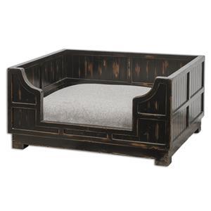 Uttermost Accent Furniture Dezi Wooden Crate Pet Bed
