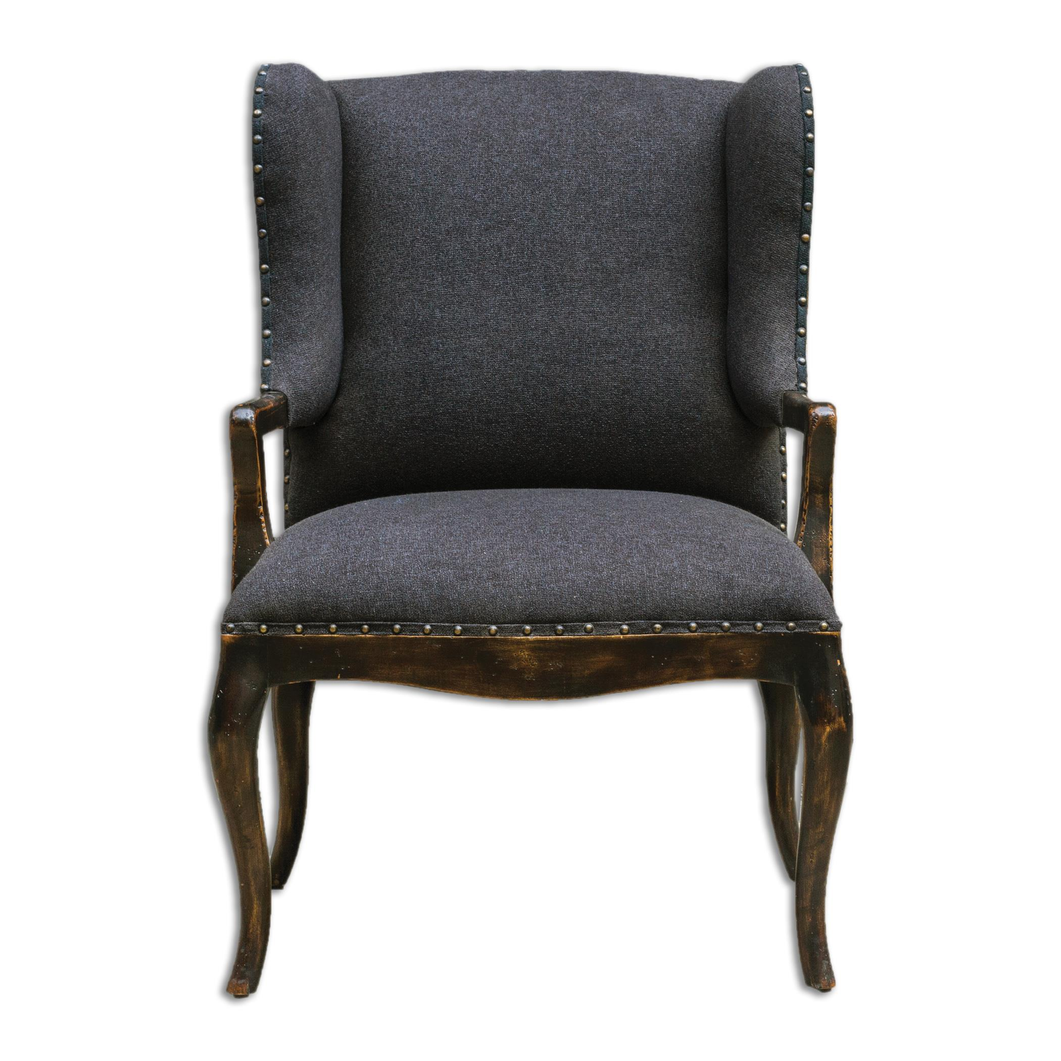 Uttermost Accent Furniture Chione Black Armchair - Item Number: 23631