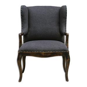Uttermost Accent Furniture Chione Black Armchair