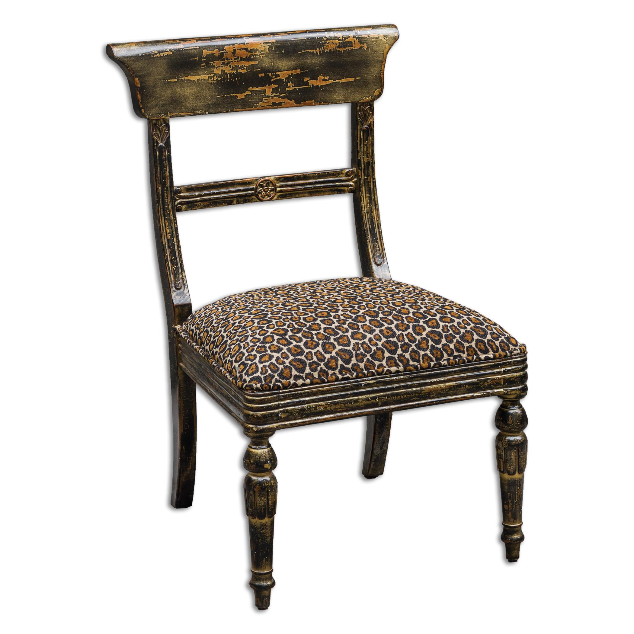 Uttermost Accent Furniture Tambra Leopard Print Accent Chair - Item Number: 23632
