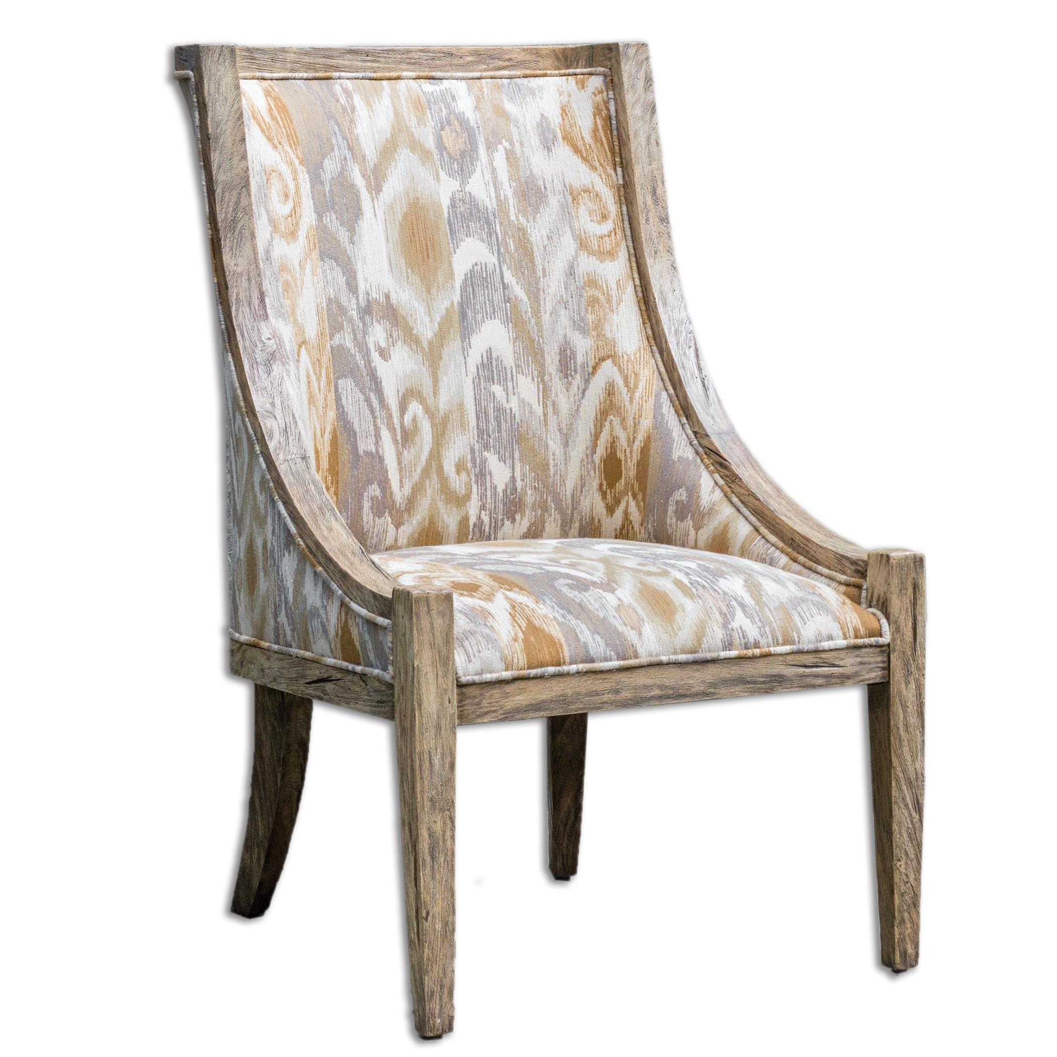 Uttermost Accent Furniture Alabaster Driftwood Accent Chair - Item Number: 23634