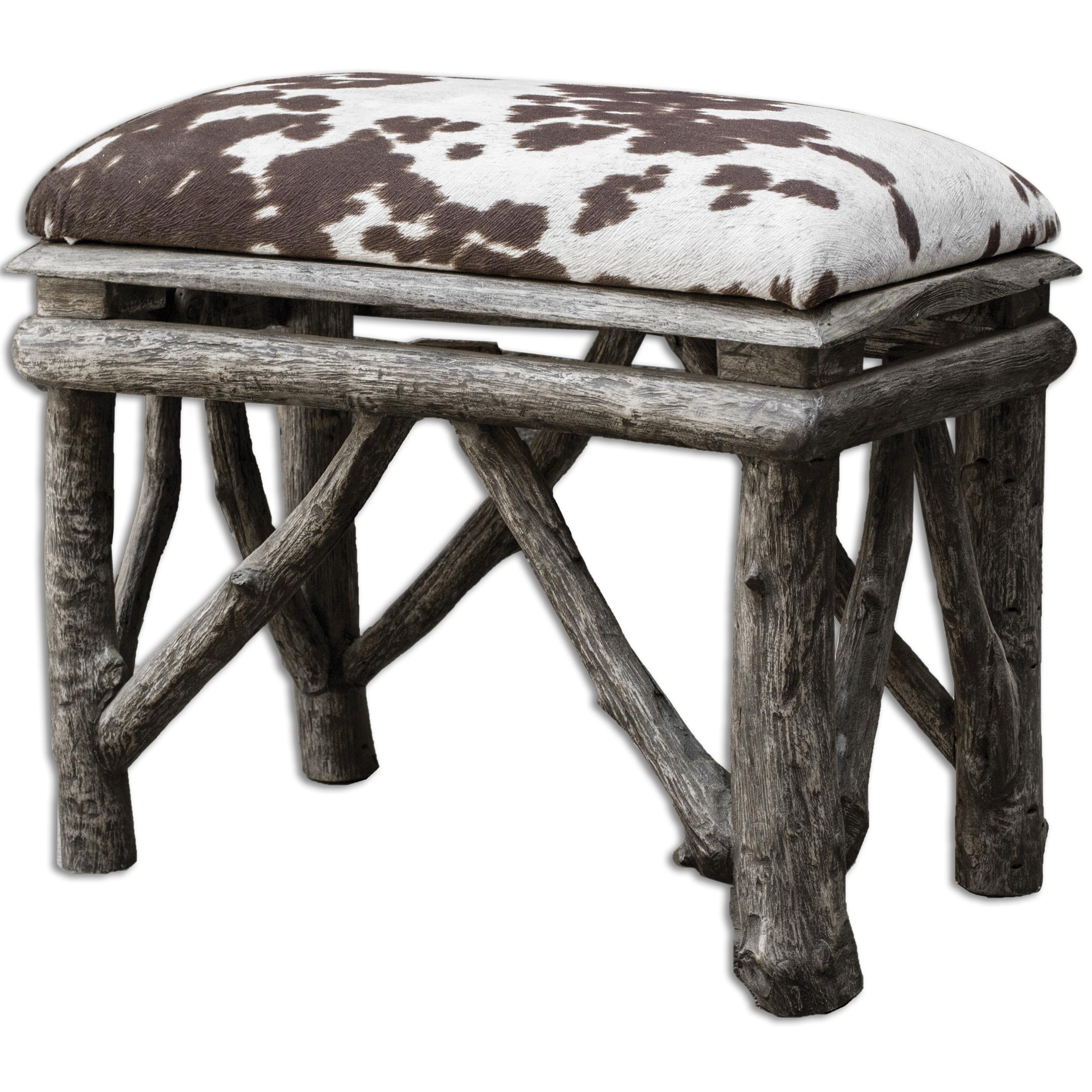 Accent Furniture - Benches Chavi Small Bench by Uttermost at Goffena Furniture & Mattress Center