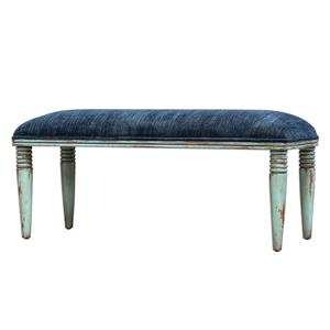 Uttermost Accent Furniture Femi Seaglass Green Bench
