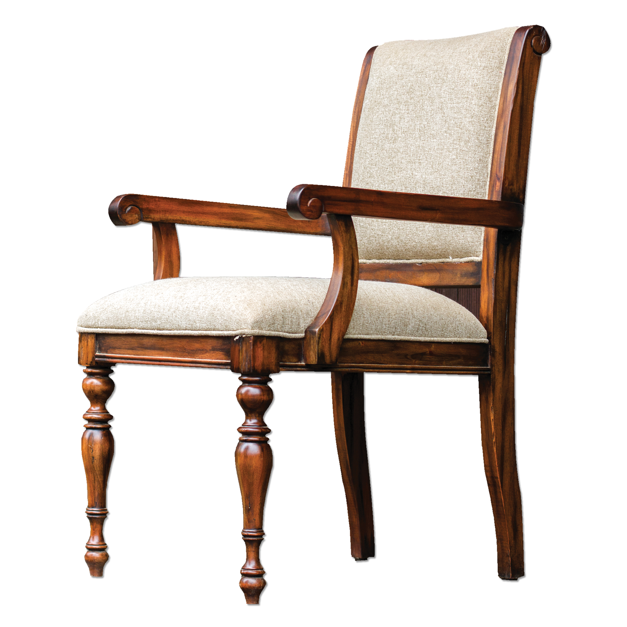 Uttermost Accent Furniture Danek Honey Stained Armchair - Item Number: 23648