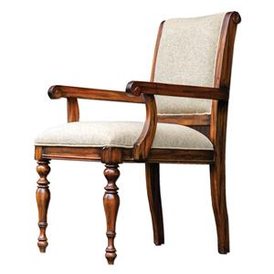 Uttermost Accent Furniture Danek Honey Stained Armchair