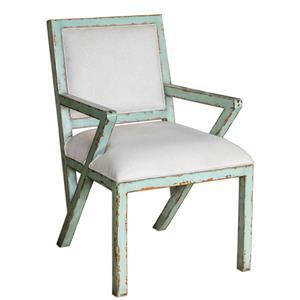 Uttermost Accent Furniture Zenia Seaglass Green Armchair