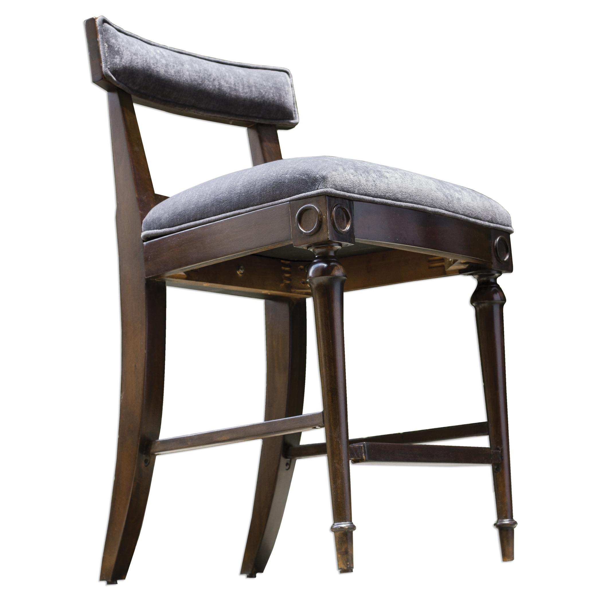Uttermost Accent Furniture Nicandro Antique Hickory Counter Stool - Item Number: 23650