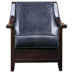 Uttermost Accent Furniture Bowie Steel Blue Armchair