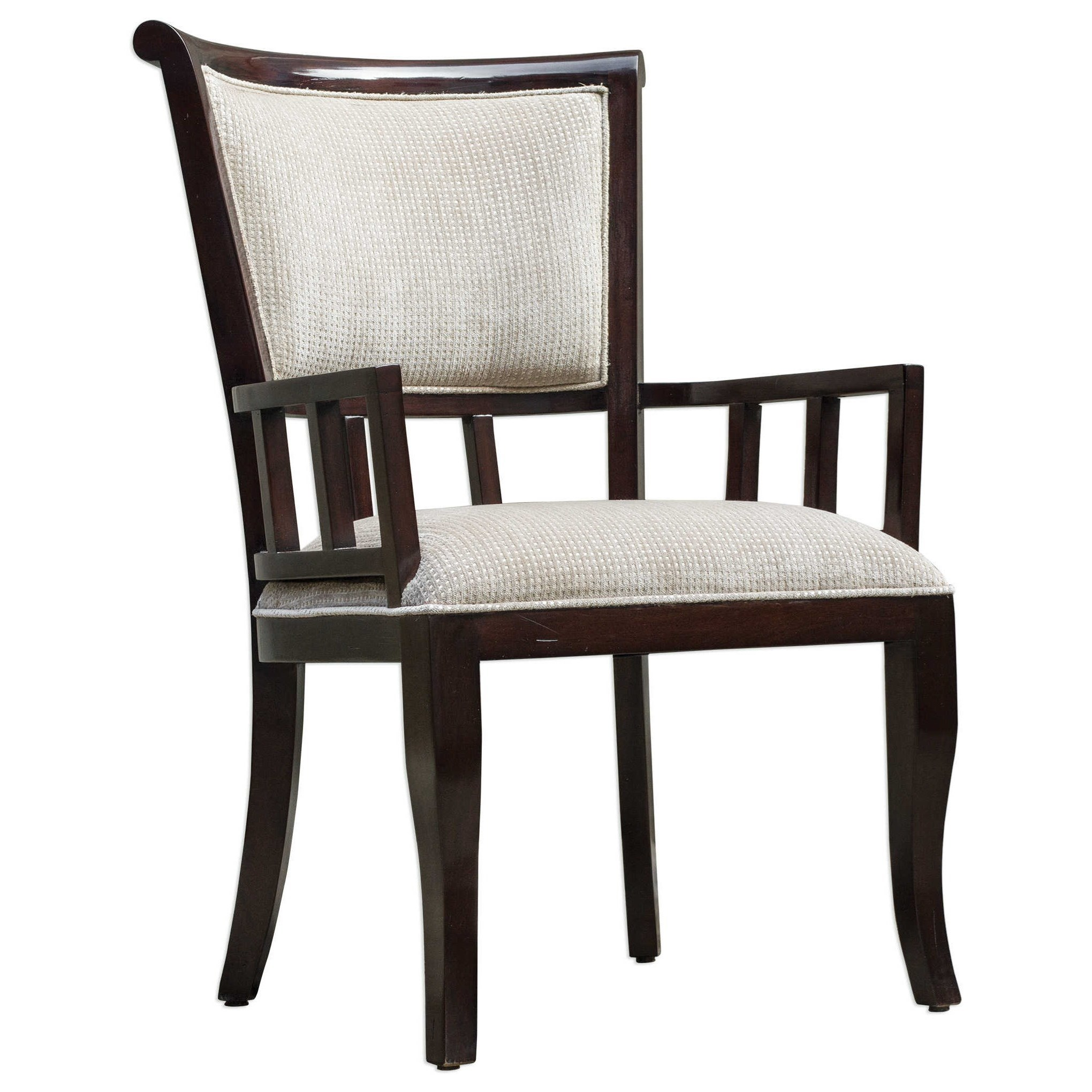Uttermost Accent Furniture Orlin Mahogany Accent Chair - Item Number: 23656