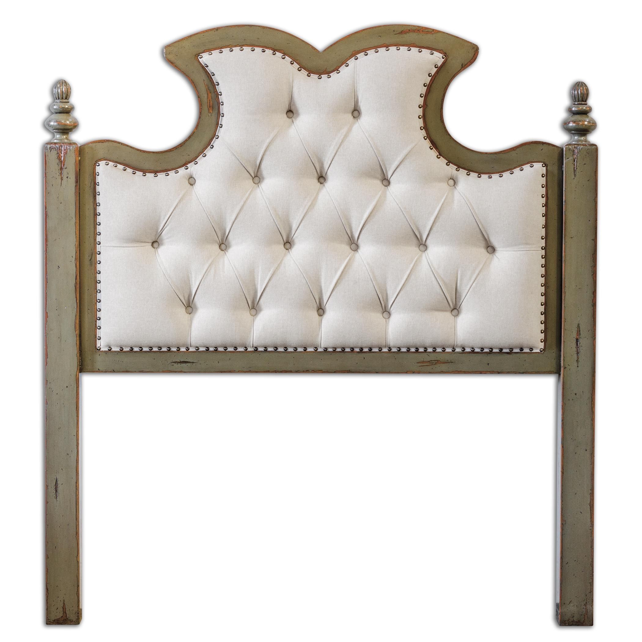 Uttermost Accent Furniture Radcliff Tufted Queen Headboard - Item Number: 23700
