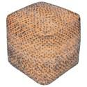 Uttermost Accent Furniture Valda Orange Wool Pouf - Item Number: 23953