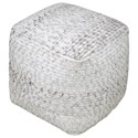 Uttermost Accent Furniture Valda Gray Wool Pouf - Item Number: 23954