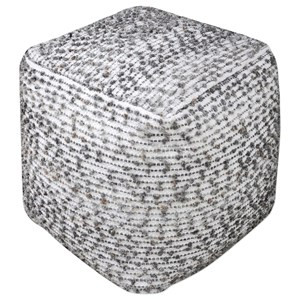 Uttermost Accent Furniture Valda Linen Wool Pouf