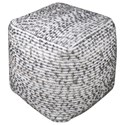 Uttermost Accent Furniture Valda Linen Wool Pouf - Item Number: 23955