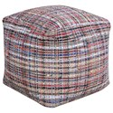 Uttermost Accent Furniture Nyala Multi Colored Pouf - Item Number: 23956
