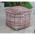 Uttermost Accent Furniture Nyala Multi Colored Pouf