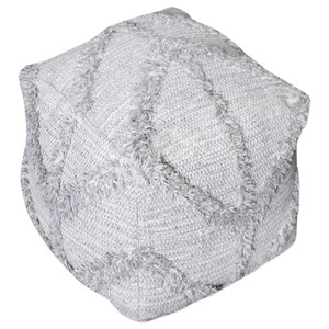 Uttermost Accent Furniture Olfen Gray Pouf