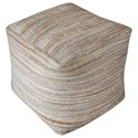 Uttermost Accent Furniture Shiro Beige Pouf - Item Number: 23958