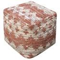 Uttermost Accent Furniture Rewa Beige/Brown Pouf - Item Number: 23961