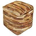 Uttermost Accent Furniture Tiago Medium Brown Pouf - Item Number: 23962