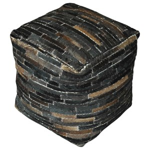 Uttermost Accent Furniture Tiago Dark Brown Pouf