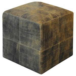 Uttermost Accent Furniture Chivaso Leather Cube Ottoman