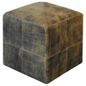 Uttermost Accent Furniture Chivaso Leather Cube Ottoman - Item Number: 23964