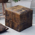 Uttermost Accent Furniture Chivaso Leather Cube Ottoman