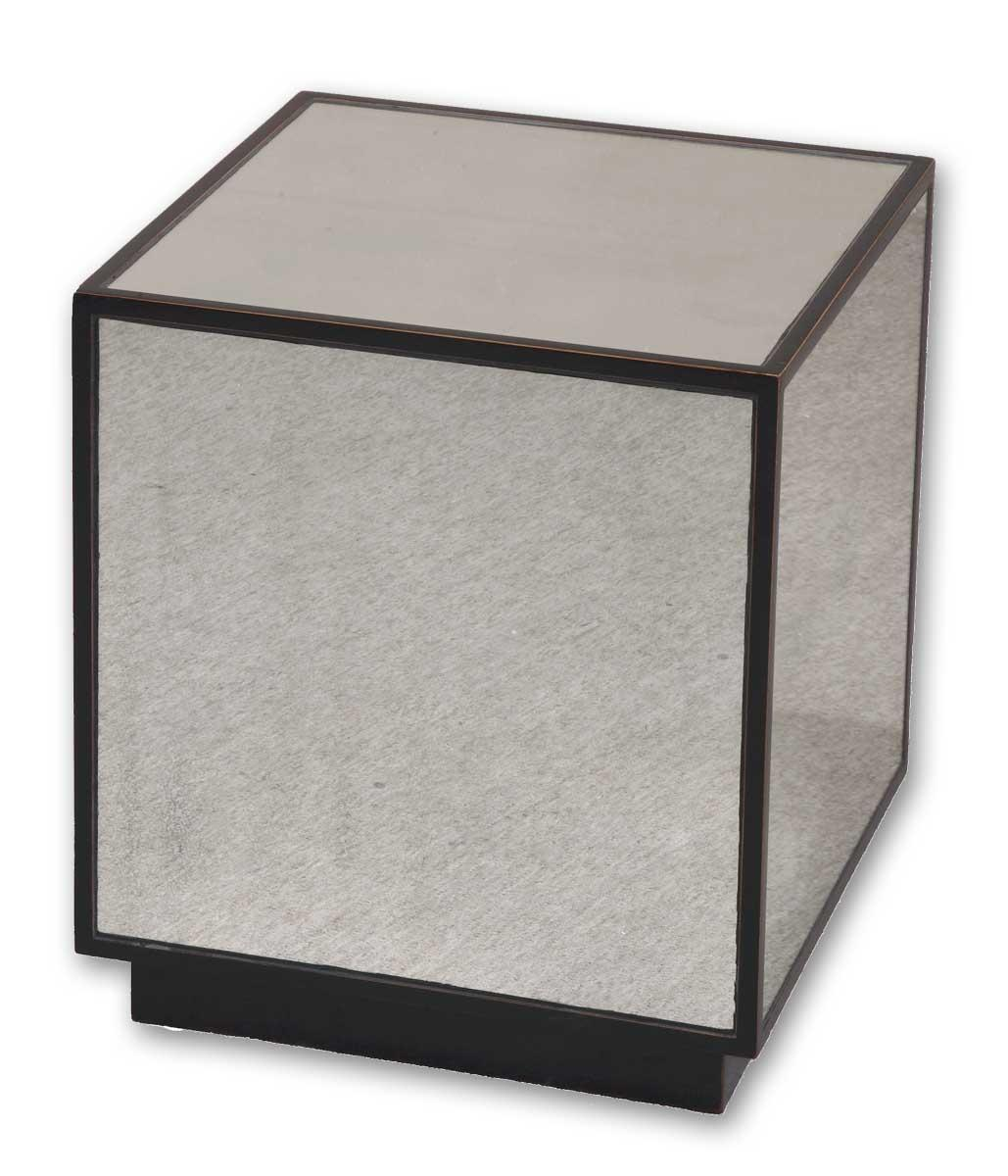 Accent Furniture - Occasional Tables Matty Mirrored Cube by Uttermost at Dream Home Interiors