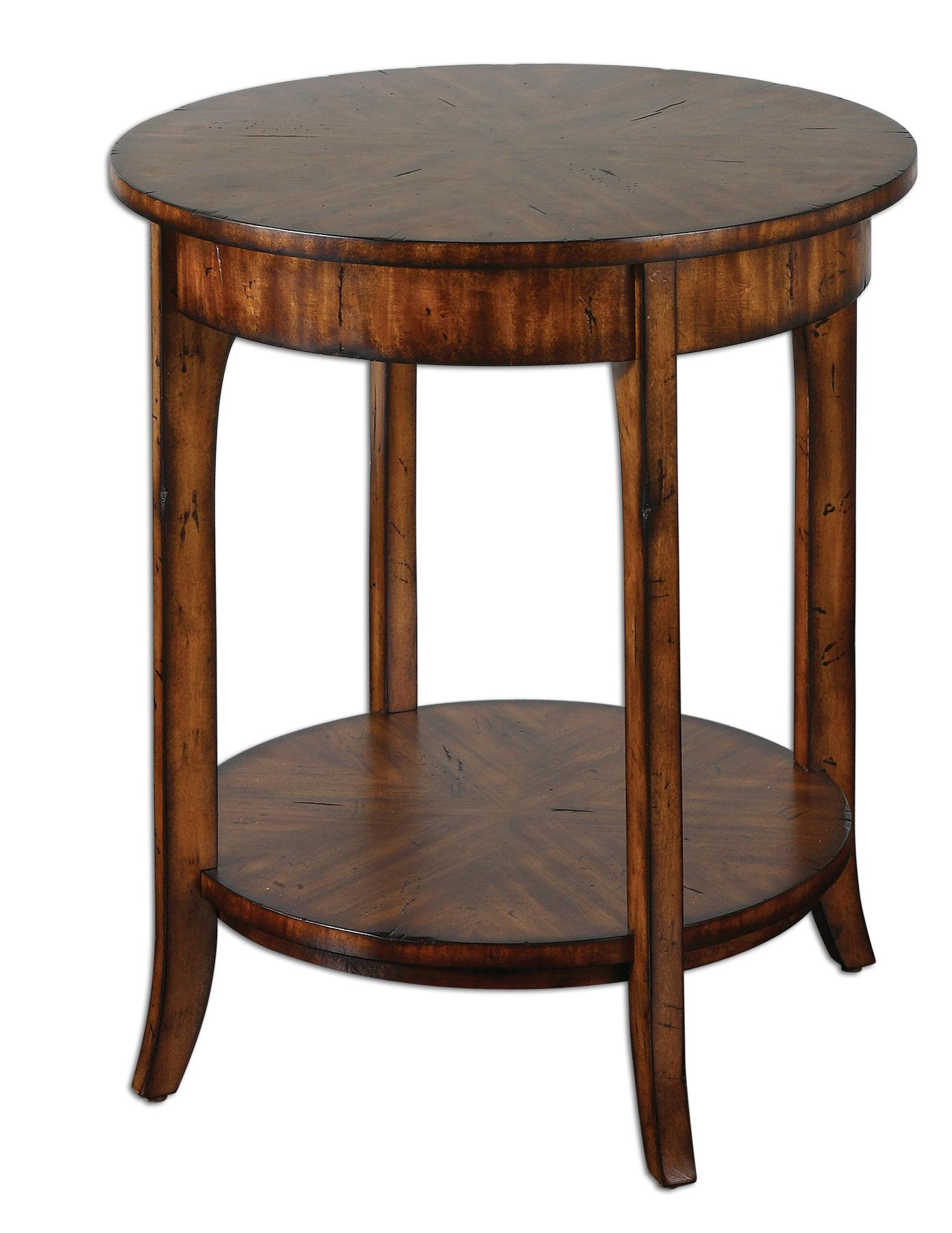 Accent Furniture - Occasional Tables Carmel Lamp Table by Uttermost at Dunk & Bright Furniture