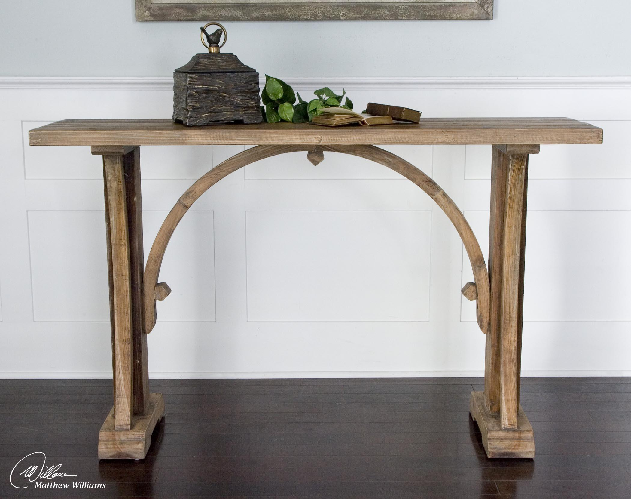 Uttermost Accent Furniture Genessis Console Table Dunk