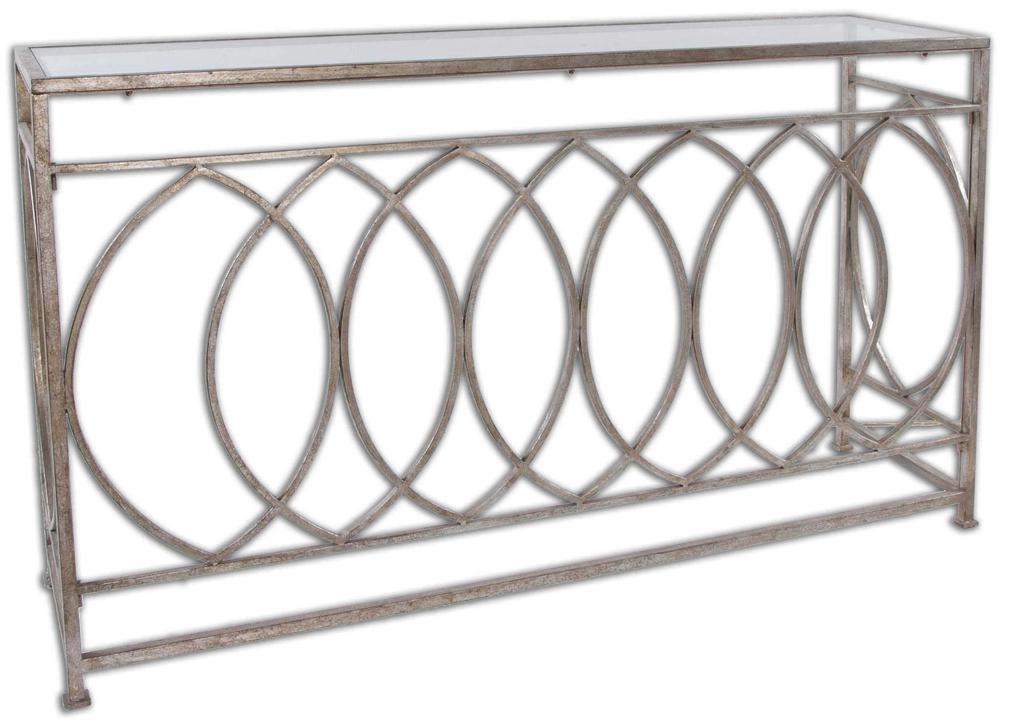 Uttermost Accent Furniture Aniya Glass Top Console Table - Item Number: 24306