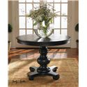 Uttermost Accent Furniture Brynmore Wood Grain Round Table