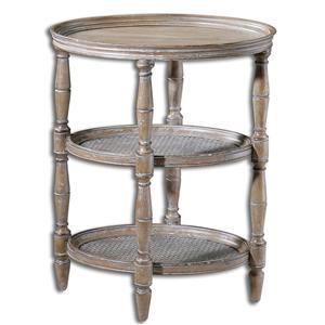 Uttermost Accent Furniture Kendellen Antique Accent Table