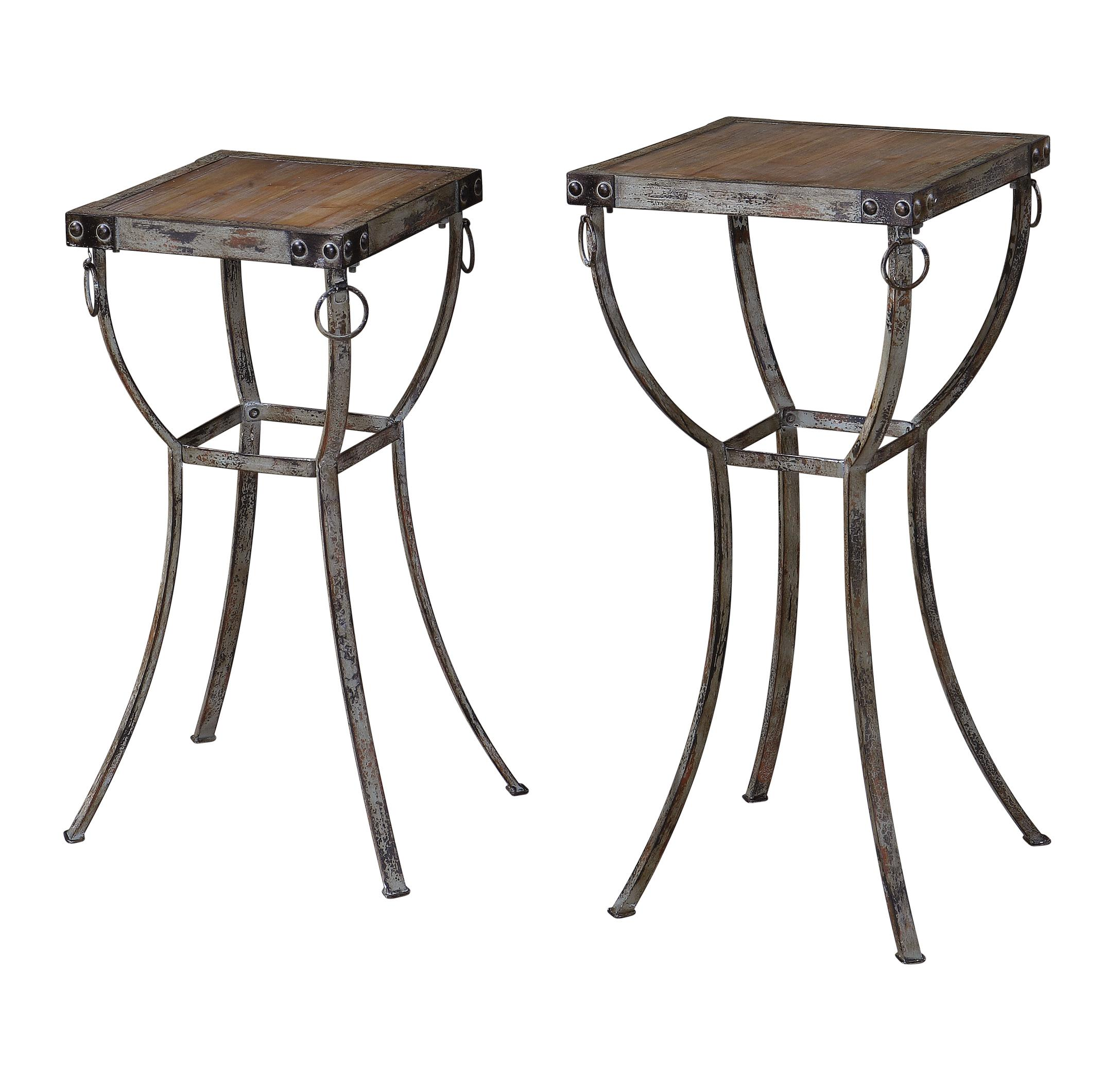 Uttermost Accent Furniture Hewson Plant Stands Set of 2 - Item Number: 24313