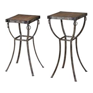 Uttermost Accent Furniture Hewson Plant Stands Set of 2