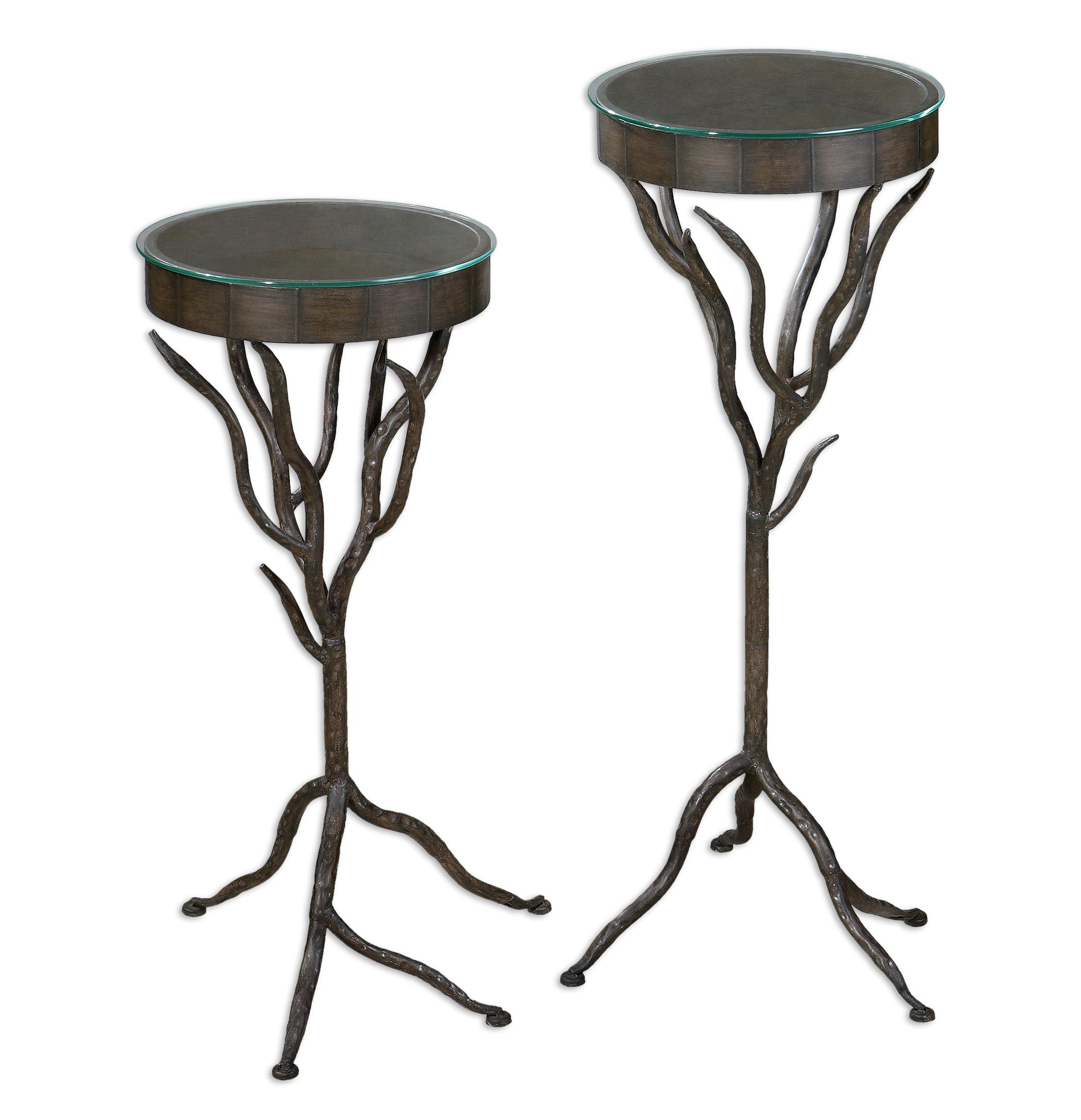 Uttermost Accent Furniture Esher Plant Stands Set of 2 - Item Number: 24316