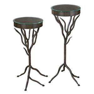 Uttermost Accent Furniture Esher Plant Stands Set of 2